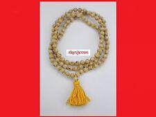 Natural Tulsi Mala 108+1 Beads - Krishna Japa Mala Rosary - Yoga Meditation Mala
