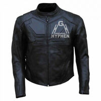 Handmade Tom Cruise Oblivion Movie Full Black Motorcycle Cowhide Leather Jacket