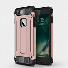 Hybrid Armor Shockproof Rubber Silicone Cover Plastic Shell Bumper Case+9H Glass