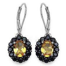 Exclusive 4,32 Carat Citrine/Spinel Earrings 925 Silver Earrings Top Quality