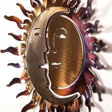 "Wall Art - Wrought Iron Sun and Moon Sculpture 10"" x 10"""