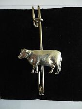 """Cow codea37 Scarf and Kilt Pin Pewter 3"""" 7.5 cm"""