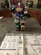 "RARE Vintage 1997 Bandai Power Rangers TURBO DELUXE MEGAZORD 12.5"" Tall - 5 Cars"
