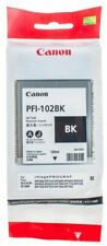 Canon Genuine/Original PFI-102BK 102 B Black Printer Ink Tank Cartridge 130ml RP