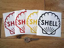 """Shell logo classique coupe vinyle contour pompe à essence autocollant 4"""" course voiture de course vélo"""