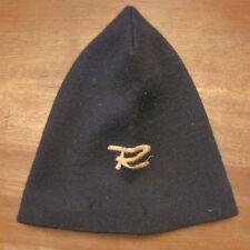 Cuffia lana elastica vintage sci berretto Italian cape ski cap Rossignol R logo