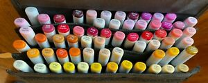 COPIC Sketch Alcohol Markers, 59-Refillable RED/REDVIOLET/YELLOW w/FREE CASE