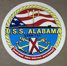 "US Navy Decal - Sticker - USS Alabama SSBN-731 ( 6"" Diameter )"