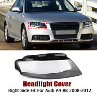 Right Driver Side For Audi A4 09-12 B8 Front Kit Cover Lens Headlight Headlamp