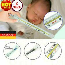 2x Quecksilber Thermometer für Erwachsene Baby Medical Mercury Glass Thermometer