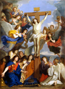 Crucifixion with Angels Giclee Art Oil painting HD printed on canvas L3073