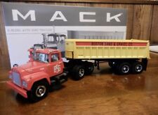 First Gear 1/34 Mack R Model Tractor Trailer Dump Boston Sand.