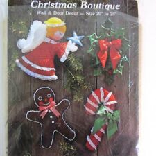 Christmas sewing pattern Door Wall decor vtg 1979 Gingham Goose 20� to 24�