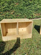 nid de poule ou pigeon en bois casier pondoir en bois a 2 compartiment