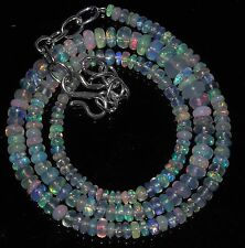"""44 Ctw 1Necklace 2to6mm16""""Beads Natural Genuine Ethiopian Welo Fire Opal RR438"""