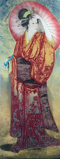 "MIKULAS KRAVJANSKY ""SPRINGTIME I"" 1996 | SIGNED COLLOGRAPH ETCHING | 30 X 11"""