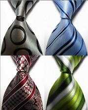 Lot of 4 Classic Patterns Stripes Dot JACQUARD WOVEN 100% Silk Men's Tie Necktie