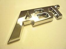 CUSTOM Chrome ABT tuning badge AUDI A1 A3 A4 VW GOLF GTI TDI R SKODA VRS RS3 RS4