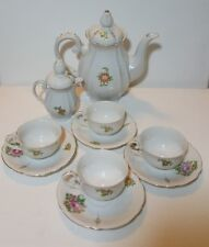 Chugai China Occupied Japan Tea Coffee 10 Piece Set Floral Gold Trim Ornate