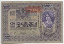 GB602 - Paper Money Austria 10.000 Kronen 1919 Pick#59 VF Deutsch-Österreich