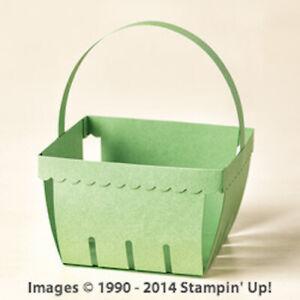 Stampin' Up! Sizzix Berry Basket Big Shot Bigz L Steel Ruled Die RETIRED