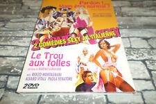 DVD - PARDON VOUS ÊTES NORMAL + LE TROU AUX FOLLES / DIGIPACK 2 DVD 2 FILMS