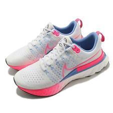 Nike reaccionar Infinity ejecutar FK 2 Flyknit Rosa Azul Hombres Para Correr DJ5191-164