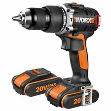 Worx Wx373 - taladro percutor brushless 20V 2 Bat