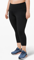 "Lululemon Leggings High Rise Crop 23"" With Pocket NWT Black Nulux FREE SHIPPING"