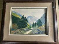 "Vintage ""Mountain Landscape Scene"" Watercolor Painting - Signed And Framed"