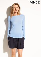 VINCE 100% CASHMERE V-BACK LONG SLEEVES LIGHTWEIGHT  DELFT SWEATER.NWT $295.SZ S