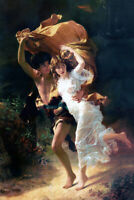 The Storm by Pierre Auguste Cot Giclee Art Oil painting printed on canvas L3013