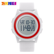 SKMEI Men Women LED Digital Wrist Watch Waterproof Sport Thin Dial Men's Watch