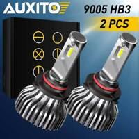 AUXITO 9005 HB3 LED Headlight 9000LM B1 Kit High Beam FANLESS Bulb 6000K White E