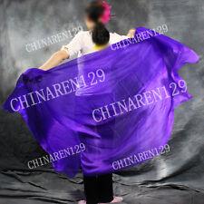 sale +carry bag BELLY DANCE 100% SILK VEILS ( 5.0 M/M ) 1.14M*2.7M color purple