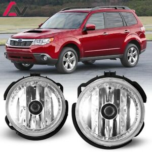 For Subaru Forester 09-13 Clear Lens Pair Bumper Fog Light Lamp Replacement