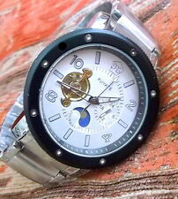 BLING & Big  Steel automatic wristwatch,mens  wrist watch open back.11 LAST ONE!