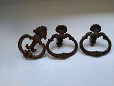 Antique furniture hardware pulls Thee Ornate Ring Pull