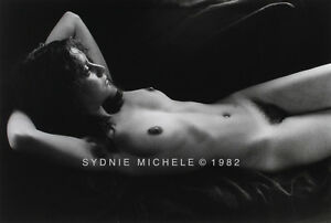 RECLINING NUDE FEMALE PHOTO 8X10 B&W VINTAGE DKRM PRINT SIGNED ORIG