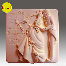 Happy Wedding - Detail of high relief sculpture,silicone mold, soap/plaster mold
