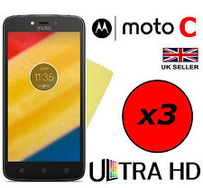 3x HQ ULTRA CLEAR HD SCREEN PROTECTOR COVER SAVER GUARDS FOR MOTOROLA MOTO C