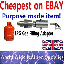 UK LPG Filling Point Filler to Calor Gas Propane Bottle Adapter Bayonet
