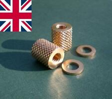 M6 Knurled Brass Thumb / Coupling Nuts & Washers Pk of 2 Precision Mc HUNSWORTH