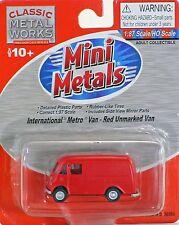 Classic Metal Works HO Scale International Metro Van - Red Unmarked Van