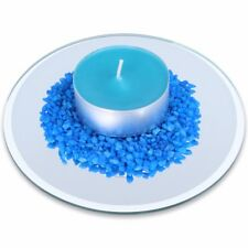 Candle Base Plates Small-large Glass Mirror Pillar Tea Light Ornament Stand Dish Round 15cm 1 Plate