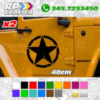 2 ADESIVI 40cm STELLA MILITARE stickers AUTO US ARMY JEEP FUORISTRADA 4X4