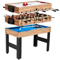 "MD Sports 48"" 3 In 1 Combo Game Table Pool Hockey Foosball Accessories Included"