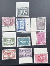 Belgium 516-525 Mnh Two Sets United Nations