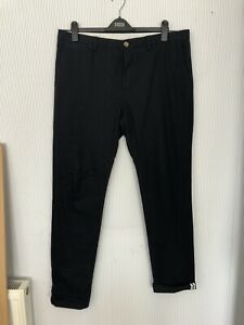 Ben Sherman EC1 Navy Blue Selvedge Chinos Trousers 36