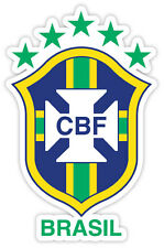 "Brasil Brasília Brazil CBF National Football Association sticker decal 3"" x 5"""